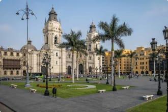 The Basilica Cathedral of Lima at Plaza Mayor - Lima, Peru