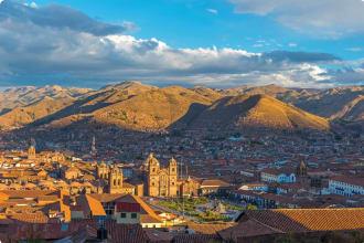 The cityscape of Cusco, the ancient Inca capital, Peru.