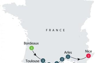 Southwest France map