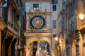 Astronomical clock tower in Rouen, France