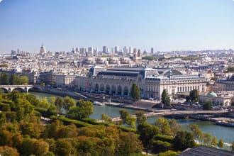 Musee d'Orsay Paris France aerial view