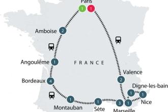 Paris, Bodeaux, Provance by train