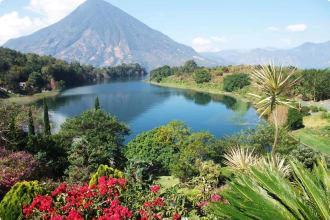 View of Lake Atitlan in Guatemala