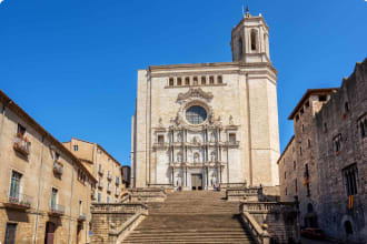 The medieval Cathedral of Saint Mary of Girona, Catalonia, Spain