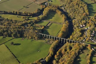 Pontcysyllte Aqueduct from the air