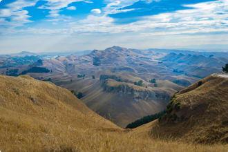 Te Mata Peak landscape view across surrounding hills and Heretaunga Plains