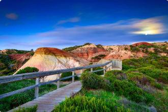Hallett Cove park boardwalk, Adelaide, South Australia