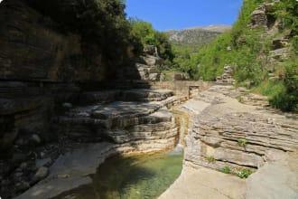 Natural pools in Papigo, Epirus, Greece