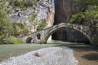 Portitsa gorge and stone bridge, Greece