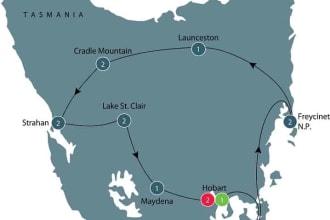Tasmania Wildlife tour map