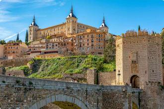 Alcazar and bridge of Toledo, Spain