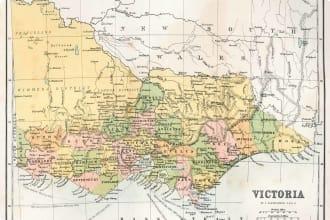 Antique Map of Victoria, Australia