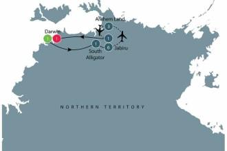 Kakadu in the wet tour map
