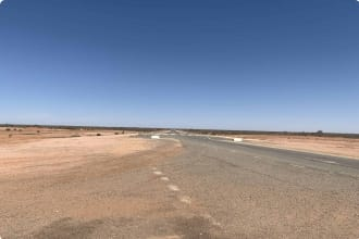 Silver Highway south of Tiboourra; Emergency airstrip