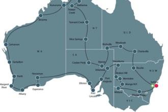 Grand Australian tour 2021 map
