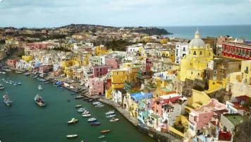 Ancient History of Southern Italy - Island Procida near Naples, Italy