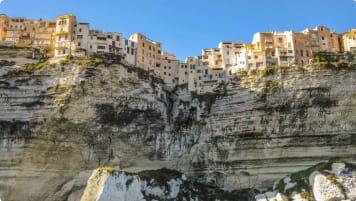 skyline of Corsica, France