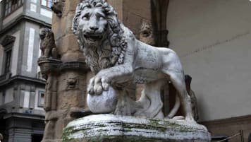Tour of Italy, Renaissance Sculpture Medici Lion by Vacca in Florence
