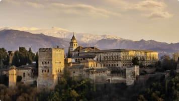 Moorish architecture in Alhambra, Spain