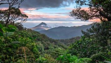 Arenal Volcano as seen from Monteverde Costa Rica