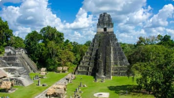 Ruins of the Mayan city of Tikal in Guatemala