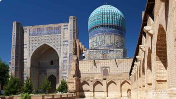 Bibi Khanum Mosque in Samarkand, Uzbekistan
