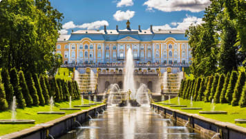 View of the Peterhof Grand Palace - Russia