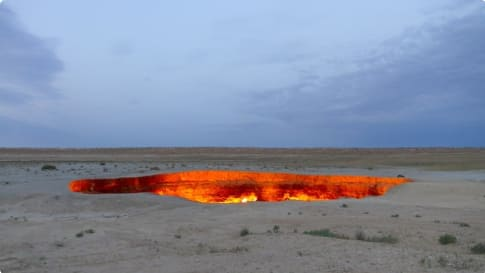Darvaza Fire Crater, Turkmenistan