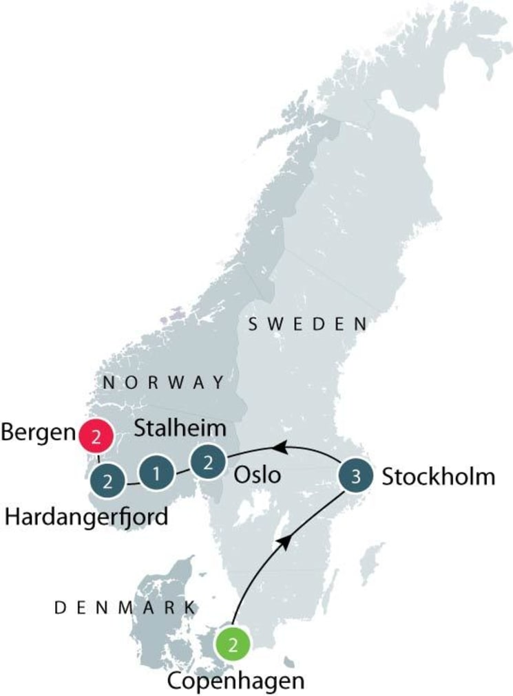 Scandinavia tours for mature travellers itinerary