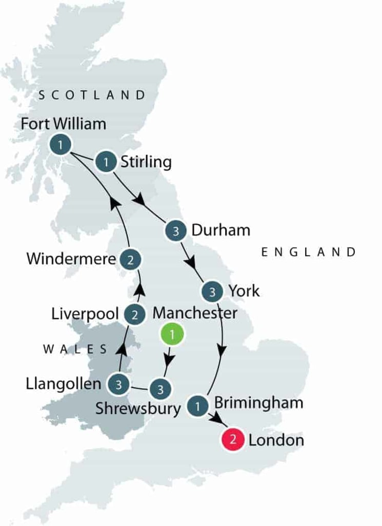 Canals and Railways in the Industrial Revolution Tour | Tours for Seniors in Britain itinerary