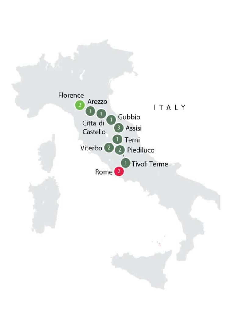Via di Francesco Walking Tour   Small Group Walking Tours Italy itinerary