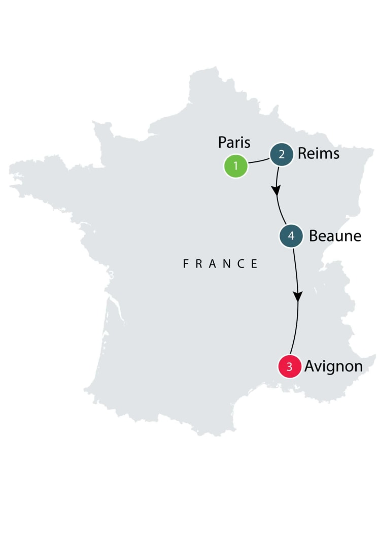 La Belle France Small Group Short Tour itinerary