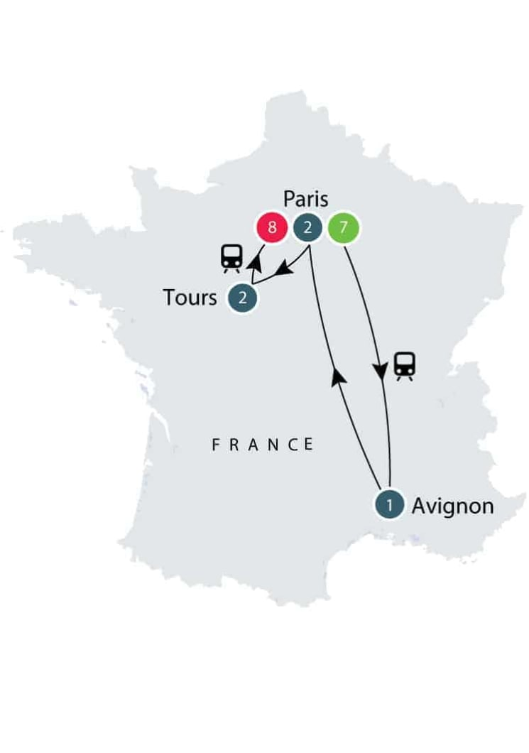 History of France by Rail | Escorted Small Group Tour for Seniors itinerary