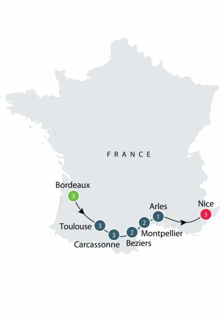 Southwest France: Along the Canal du Midi itinerary