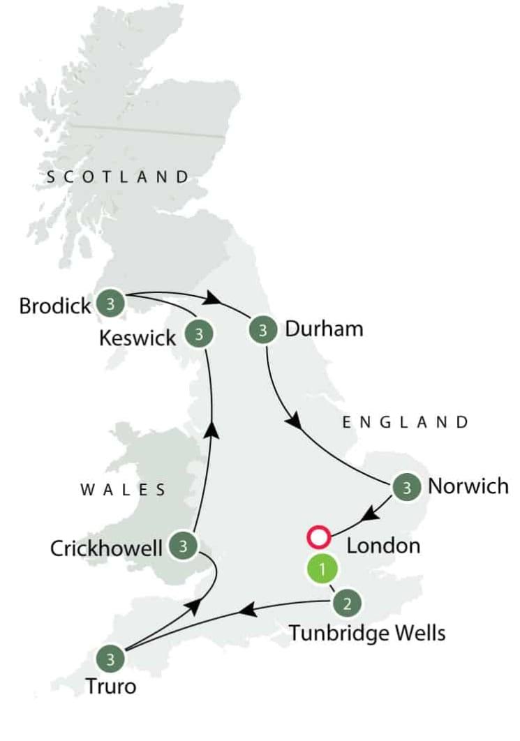 Rural Britain | Walking Small Group Tour itinerary