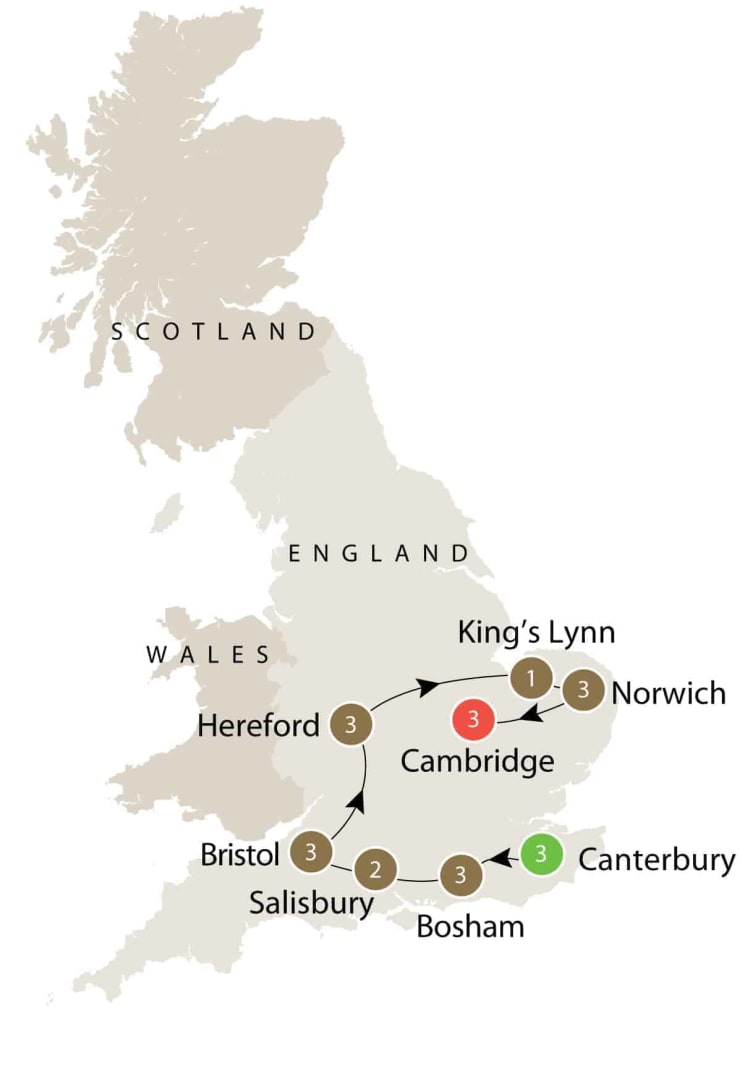 Small group tours Medieval England itinerary