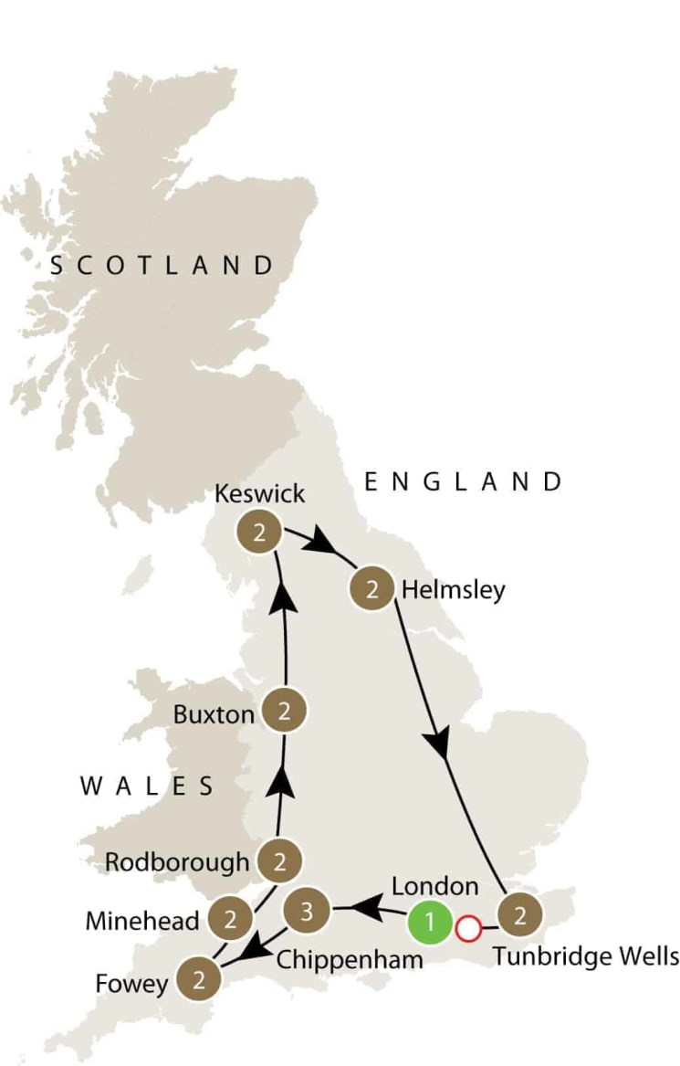 England's villages small group history tours for mature travellers itinerary