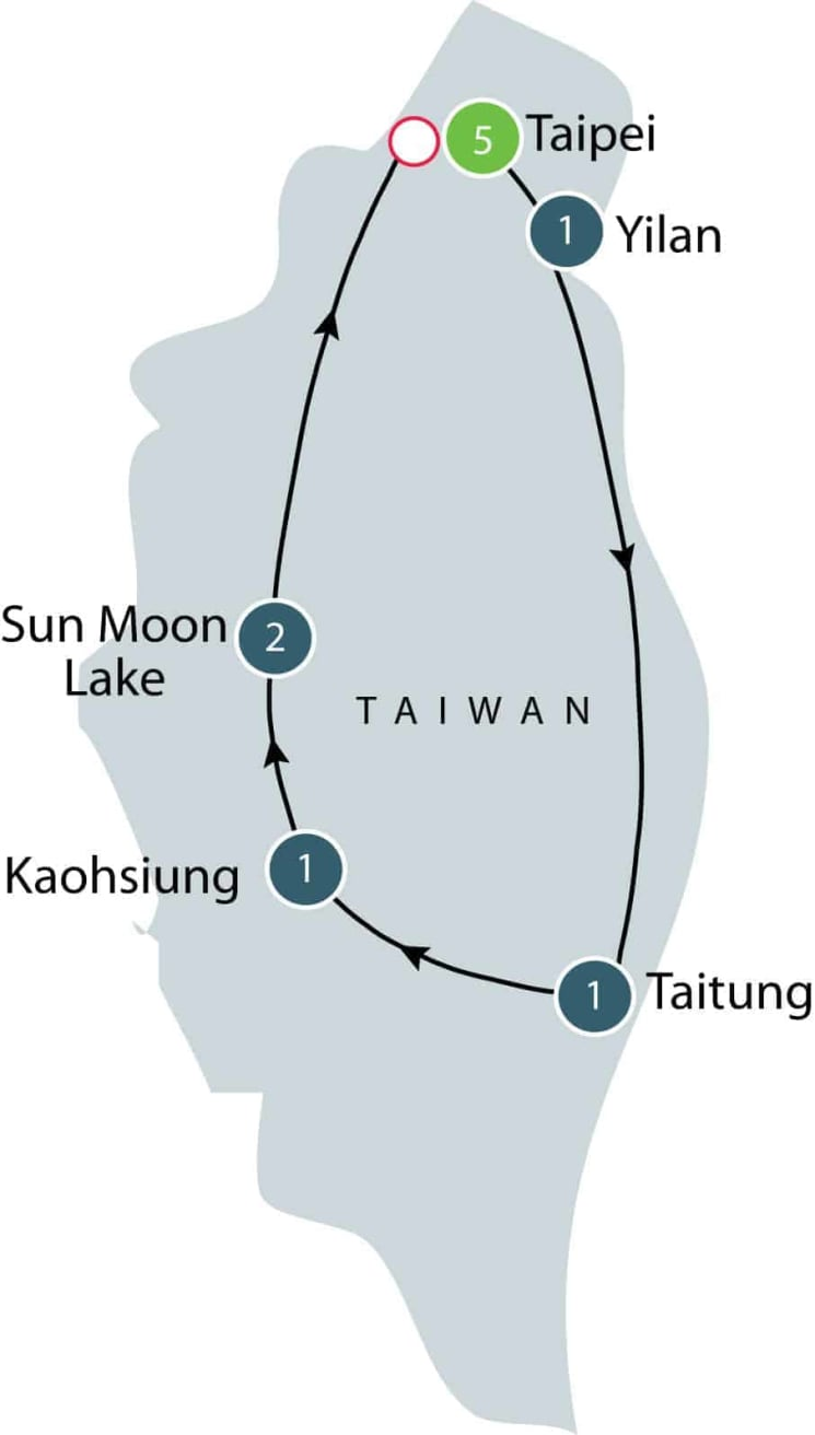 Taiwan culture and history escorted small group tour itinerary