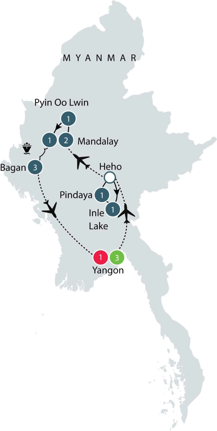 Discovering Myanmar   Small Group Tour for Seniors itinerary