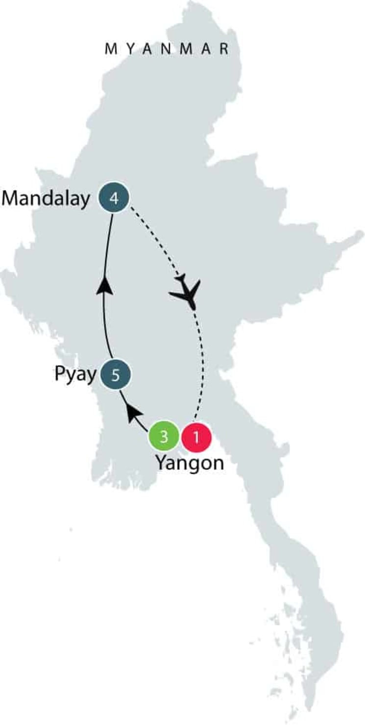 Myanmar's Art and Archaeology   Small Group Tour itinerary