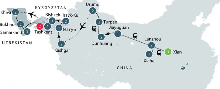Travel on the Silk Road with Odyssey Traveller | Small Group Tour for Seniors itinerary