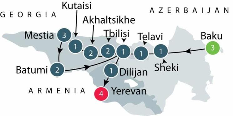 Small Group Tour to the Caucasus | Armenia Azerbaijan Georgia itinerary