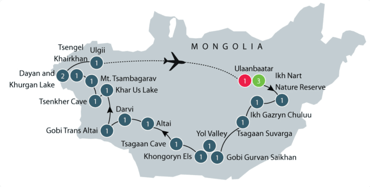 Mongolia Small Group Tour | Discover the history and culture of Mongolia itinerary