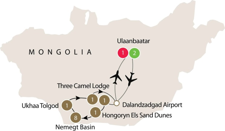 Mongolia Dinosaur Dig Tour | Small group tour in the Gobi Desert itinerary
