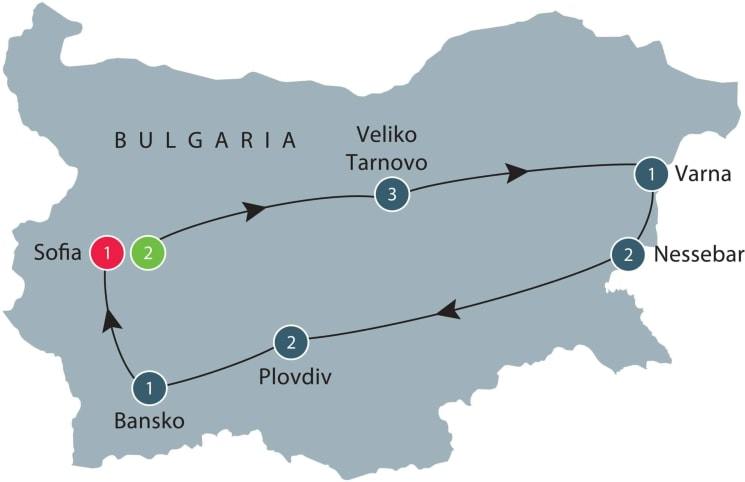 Discover Bulgaria itinerary