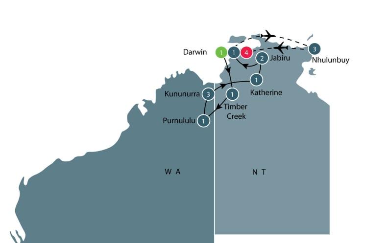 Kimberley, Purnululu, Tiwi Islands and Arnhem Land itinerary