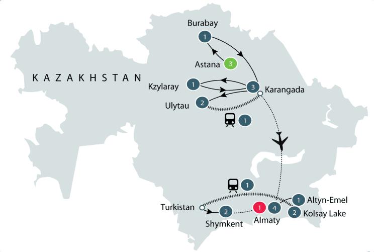 Exploring Kazakhstan | Small Group Tour itinerary