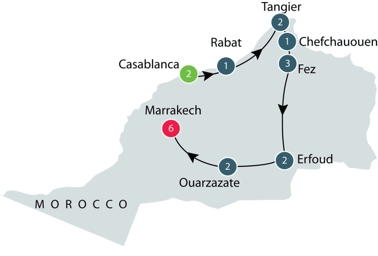 Morocco tour for mature & senior travellers itinerary