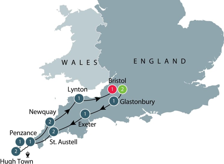 Devon and Cornwall, England itinerary