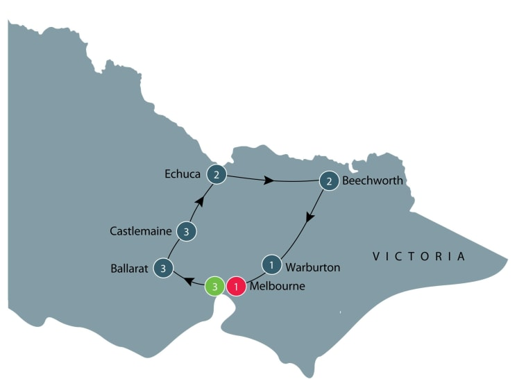 Small group tour of Victoria for Senior travellers itinerary